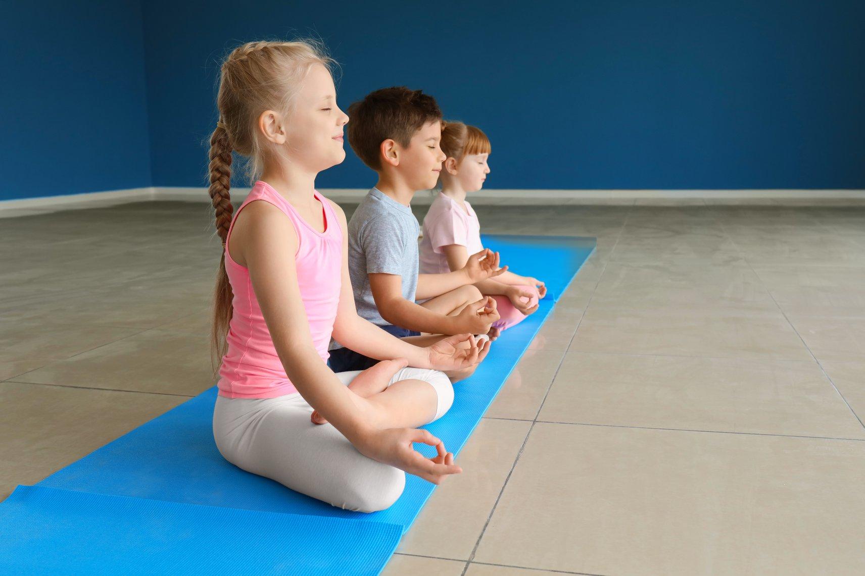 Kids Yoga Tuesdays 4pm. Bring your littl