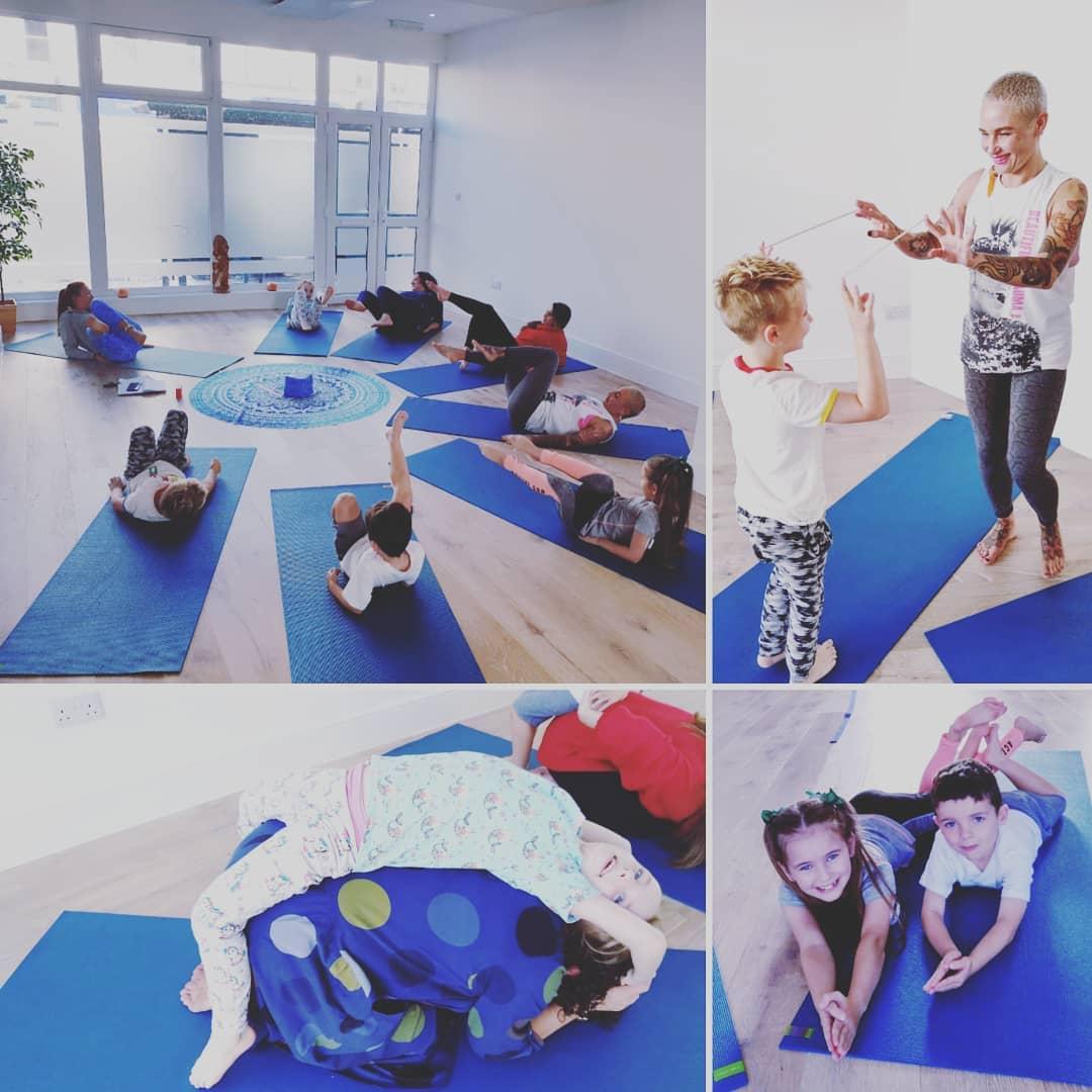 Kids yoga classes every Tuesday 4pm  Fam