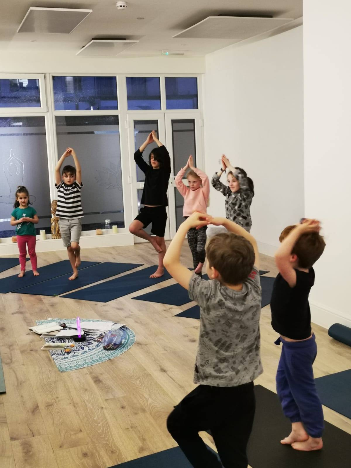 Kids yoga every Tuesday 4.15pm with our