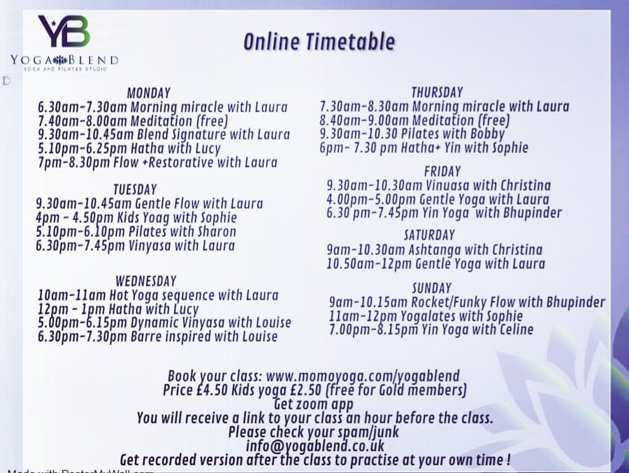 Our Online Timetable