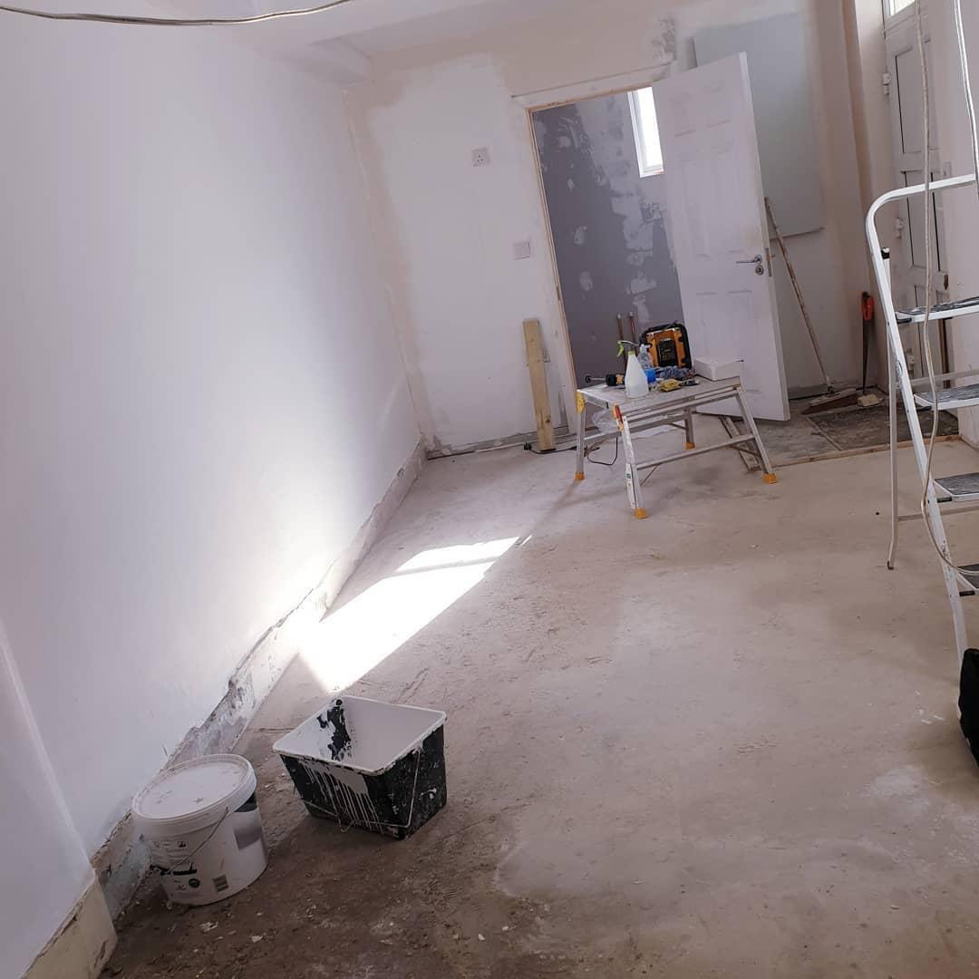 Our basement mini zoom studio/therapy ro