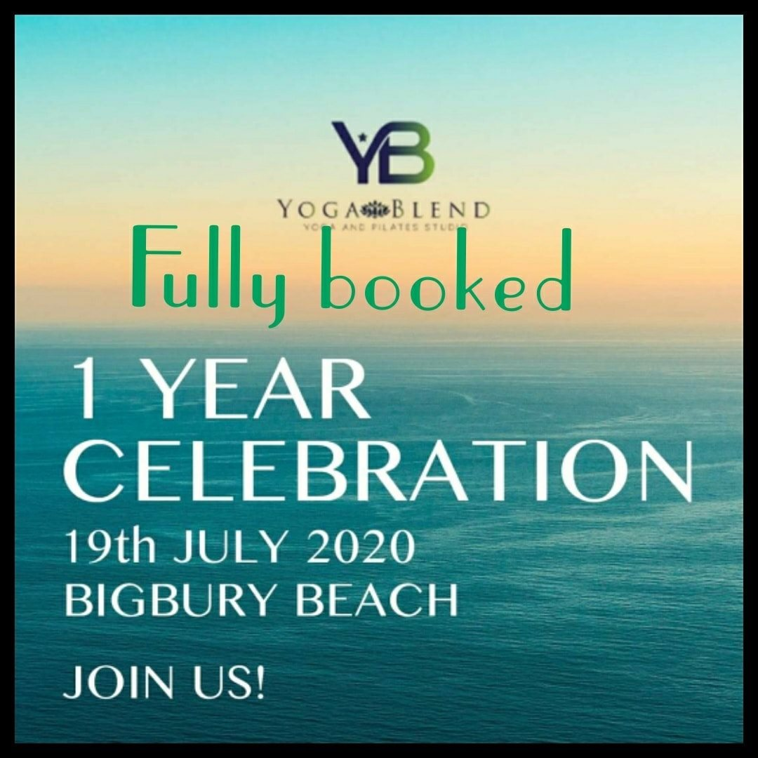 Our beach yoga event is fully booked.